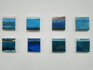 Schilderijtjes 10 x 10 cm , kleuren geïnspireerd door Schotland